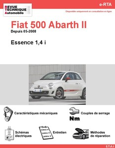 Revue Technique Fiat 500 Abarth II Essence