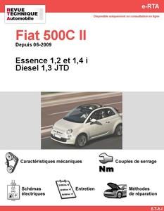 Revue Technique Fiat 500C II Essence et Diesel
