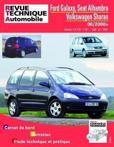Revue Technique Ford Galaxy, Seat Alhambra et Volkswagen Sharan