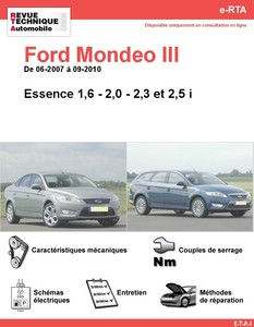 Revue Technique Ford Mondeo III essence