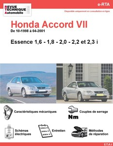 Revue Technique Honda Accord VI essence