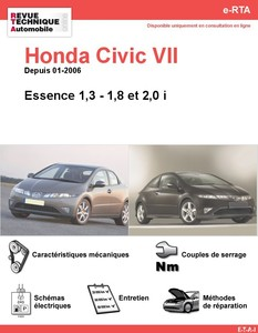 Revue Technique Honda Civic VIII essence