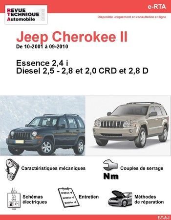Revue Technique Jeep Cherokee KJ et Grand Cherokee WK