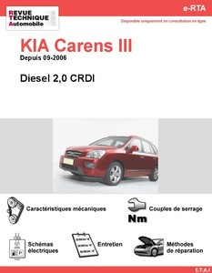 Revue Technique Kia Carens III diesel