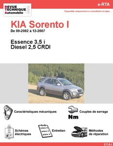 fiche technique kia sorento i 2 5 crdi ex major auto. Black Bedroom Furniture Sets. Home Design Ideas