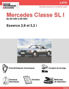 Revue Technique Mercedes Classe SL W129 essence