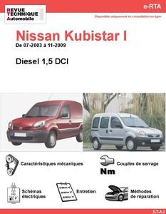 Revue Technique Nissan Kubistar diesel