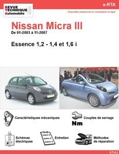 Revue Technique Nissan Micra III essence