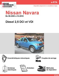 fiche technique nissan navara d40 auto titre. Black Bedroom Furniture Sets. Home Design Ideas