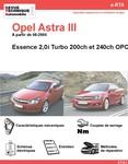 Revue Technique Opel Astra III 200 et 240 OPC
