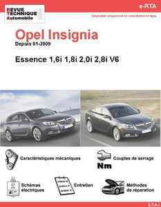 Revue Technique Opel Insignia essence