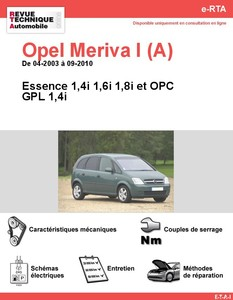 Revue Technique Opel Meriva I (A) essence