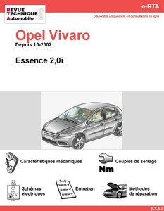 Revue Technique Opel Vivaro essence