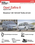 Revue Technique Opel Zafira B essence