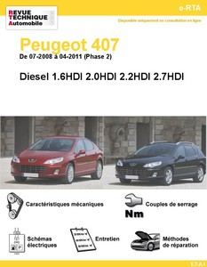 Revue Technique Peugeot 407 Diesel Phase 2
