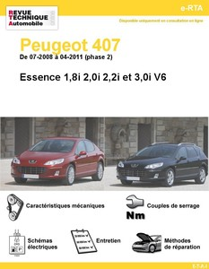 Revue Technique Peugeot 407 Essence Phase 2