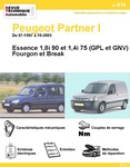 Revue Technique Peugeot Partner I essence et GPL