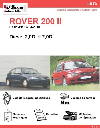 Revue Technique ROVER 200 II Diesel