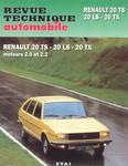 Revue Technique Renault 20 LS TX