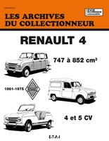 fiche technique renault 4 auto titre. Black Bedroom Furniture Sets. Home Design Ideas
