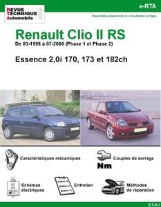 Revue Technique Renault Clio II RS