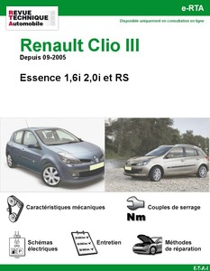 revues techniques renault clio auto titre. Black Bedroom Furniture Sets. Home Design Ideas
