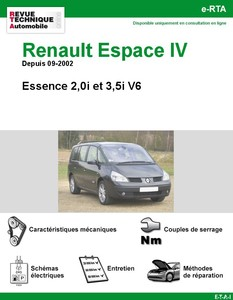 Revue Technique Renault Espace IV Essence 2,0i et V6 3,5