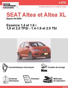 Revue Technique Seat Altea et Altea XL essence