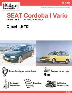 Revue Technique Seat Cordoba I Vario diesel
