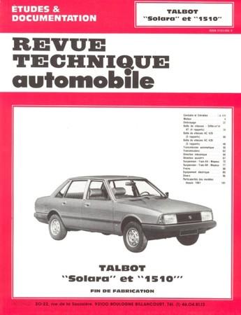 Revue Technique Talbot Solara