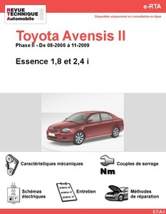 Revue Technique Toyota Avensis II essence