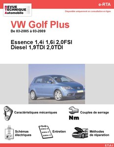 fiche technique volkswagen golf plus 1 9 tdi 105 auto titre. Black Bedroom Furniture Sets. Home Design Ideas