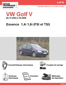 Revue Technique Volkswagen Golf V Essence