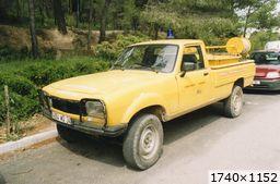 Peugeot 504 pick-up Dangel CCFL Forestiers Sapeurs MONAGNAC (34 Hérault) (1993)