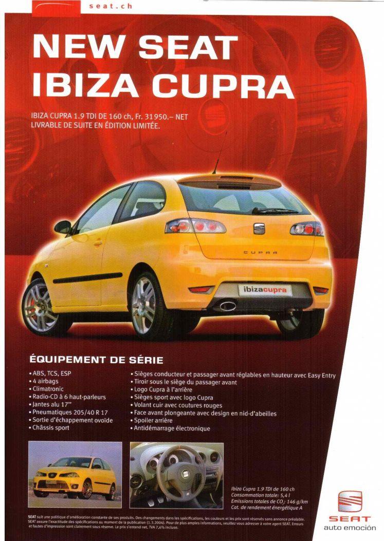 seat ibiza cupra tdi 160 ch prix et fiche technique auto titre. Black Bedroom Furniture Sets. Home Design Ideas