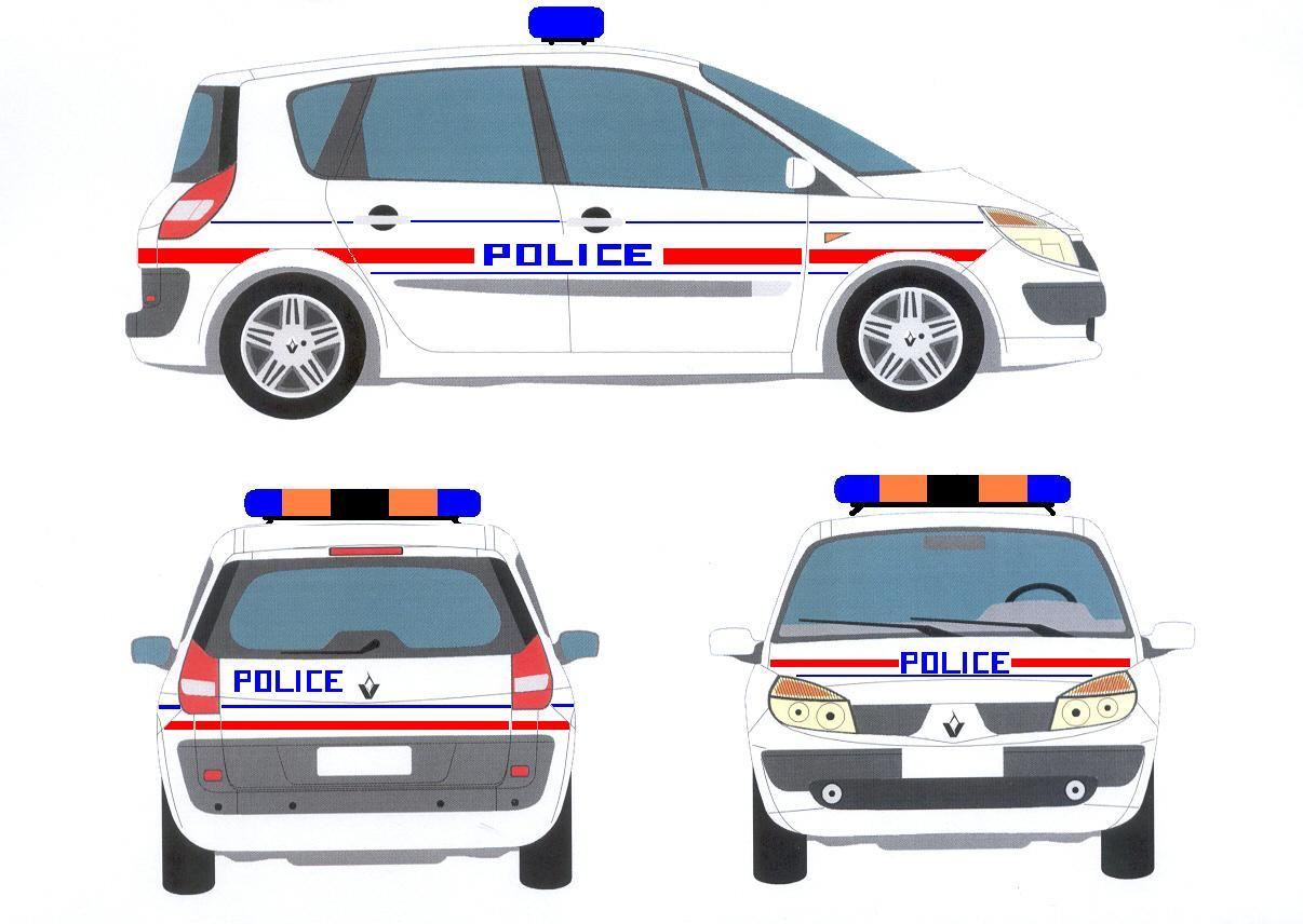 voiture de police dessin. Black Bedroom Furniture Sets. Home Design Ideas