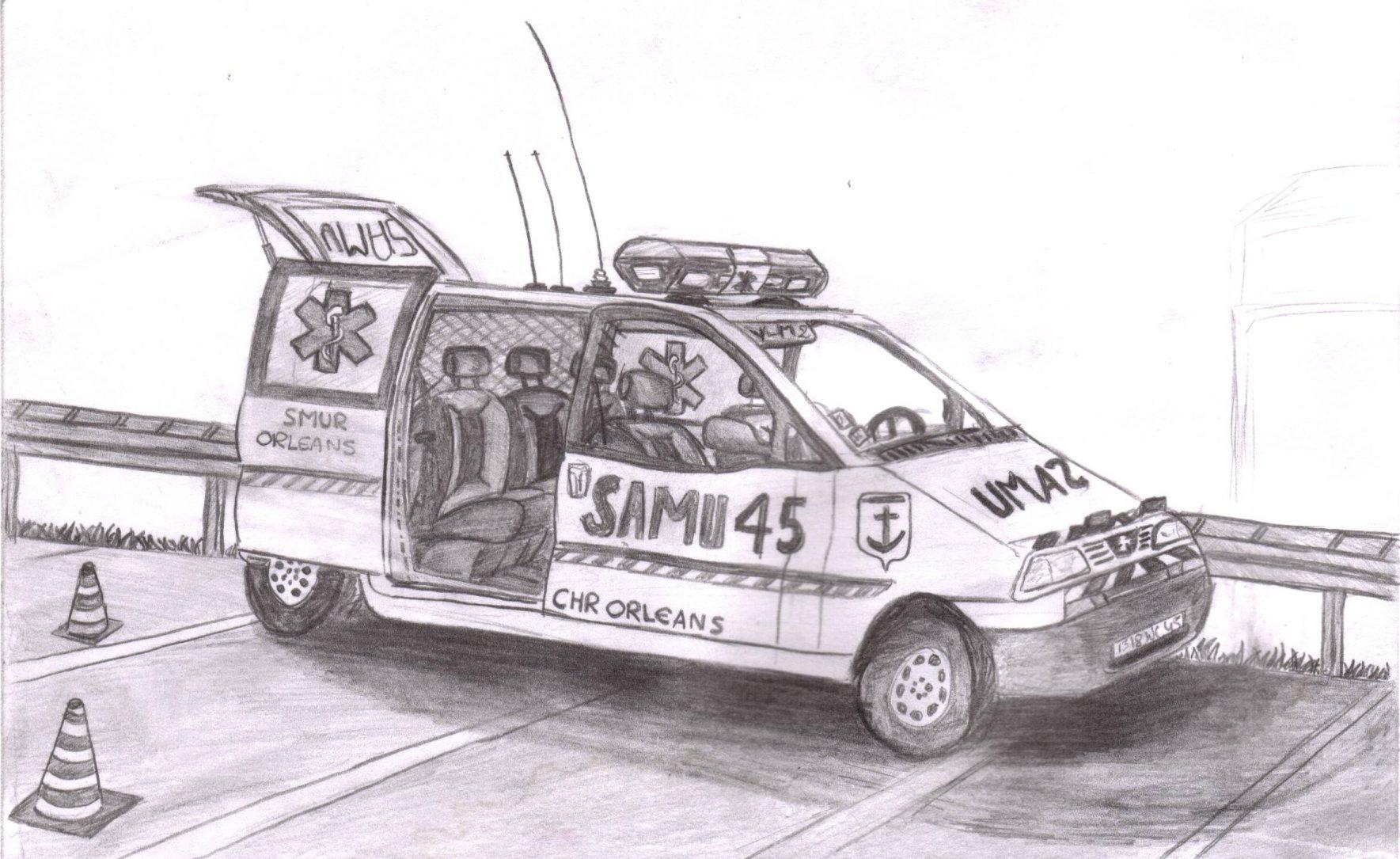 Coloriage Camion Samu.Vehicules Samu Et Smur Reanime Page 101 Auto Titre