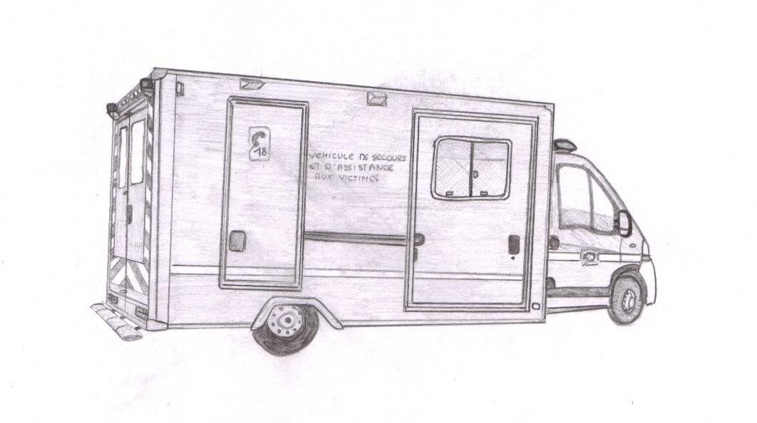 V hicules samu et smur r anim page 101 auto titre - Dessiner un camion de pompier ...