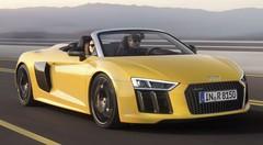 Audi R8 Spyder V10 2016 : La supercar aux anneaux tombe le haut