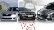 Citroën C-Elysée/Dacia Logan/Fiat Tipo: le match des berlines low-cost