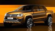 Premiers croquis pour le Volkswagen Amarok restylé