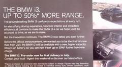 BMW : bientôt 50% d'autonomie en plus pour la i3