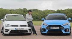 Essai Ford Focus RS vs Volkswagen Golf R : une lettre qui fait la différence ?