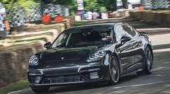 Nouvelle Porsche Panamera 2 (2016). Elle a roulé à Goodwood