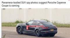 Le futur Porsche Cayenne Coupé surpris avec un déguisement de Panamera