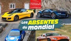Mondial de l'automobile de Paris 2016 : les absentes