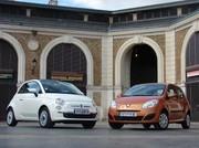 Essai Renault Twingo 2 et Fiat 500 : une rencontre mythique