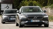 Essai : La Volvo V90 D4 défie l'Audi A6 Avant TDI 190 ultra