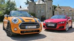 Essai Audi TT Roadster vs Mini Cooper S Cabrio : Cabriolets des beaux quartiers