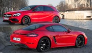 Essai Porsche 718 Cayman VS Mercedes A 45 AMG